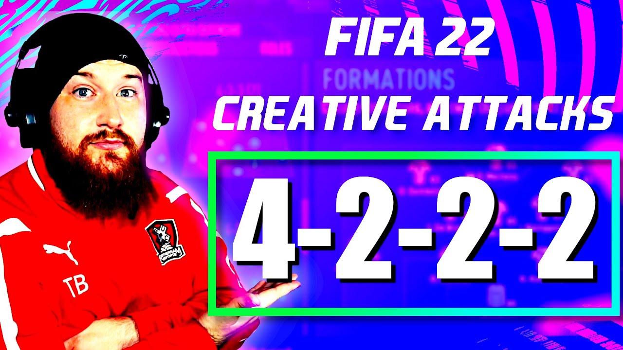 FIFA 22: 4222 Best Custom Tactics & Instructions - Creative ATTACKING Formation #FUT22