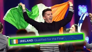every time IRELAND qualified for the eurovision final