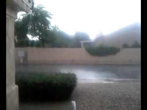 Lluvia y vientos huracanados en Chandler, AZ Octubre /05/ 2010