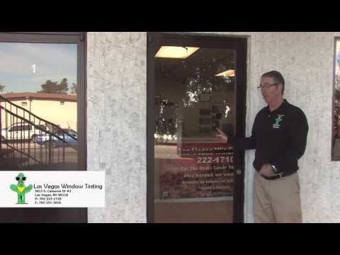 4 different glass doors, we broke them all, Las Vegas Window Tinting Secuirty film Demo