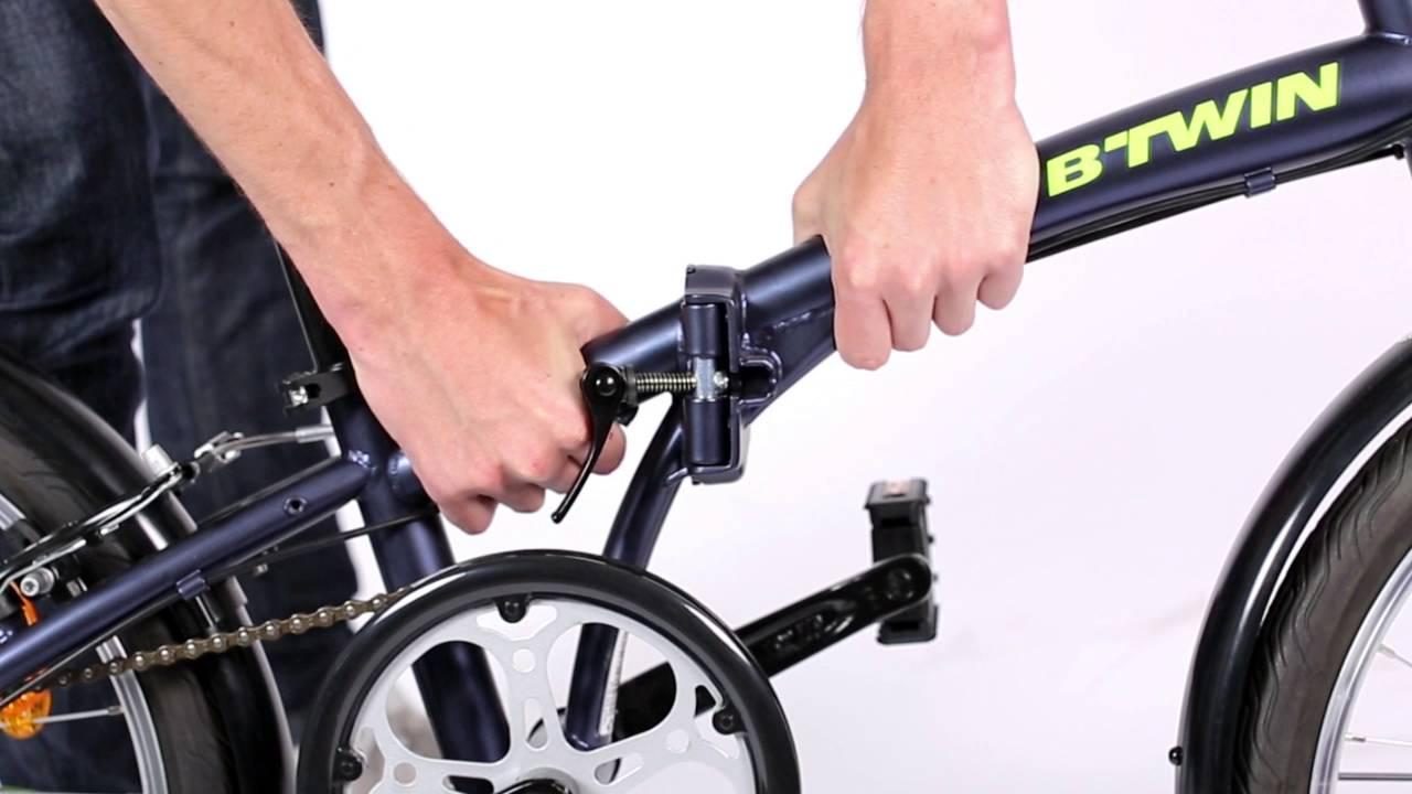 Bici Pieghevole Decathlon B Fold.Hoptown 320 B Twin Youtube