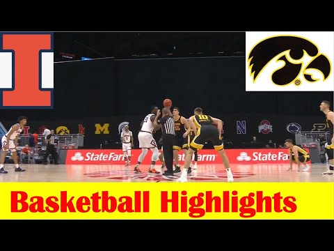 Iowa vs Illinois Basketball Game Highlights, 2021 Big 10 Tournament Semifinal