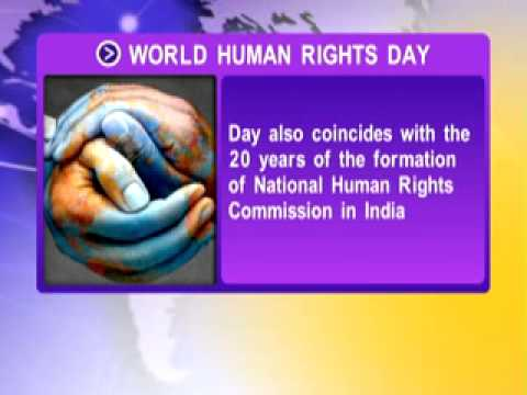 International Day of Human Rights observed today: 20 years: 'Working for your rights'