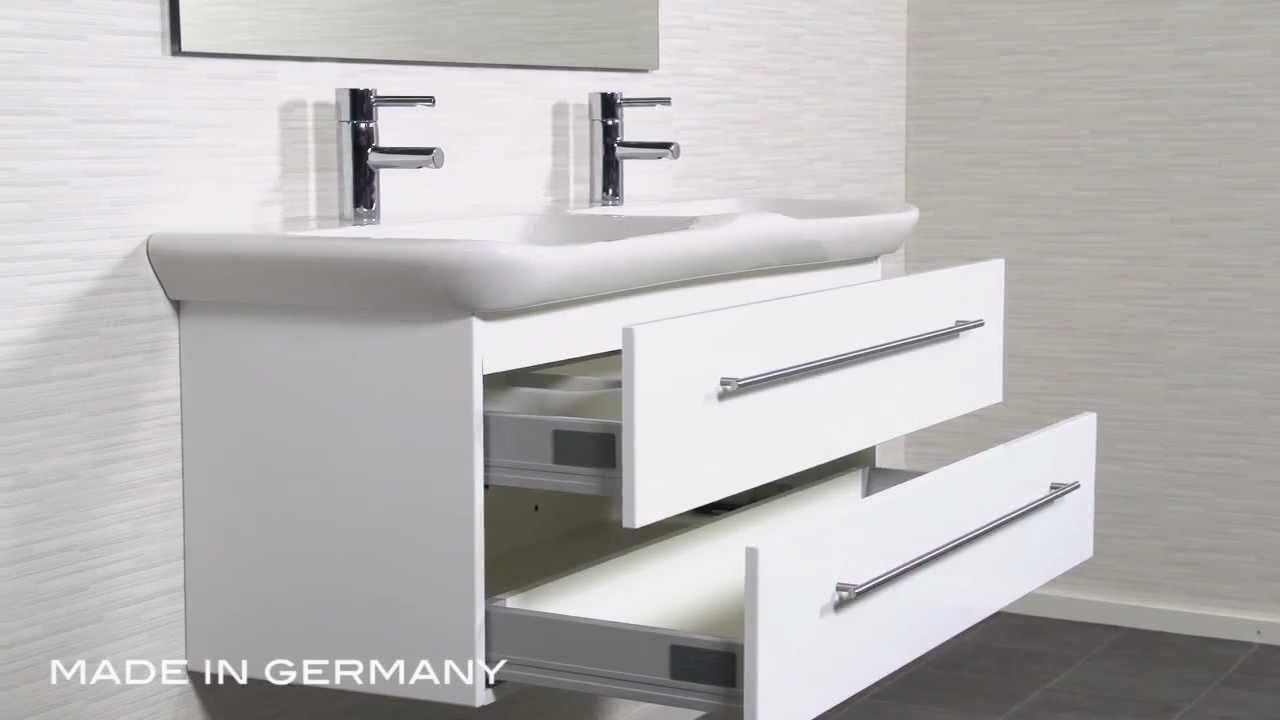 badm bel keramag myday 130 cm weiss youtube. Black Bedroom Furniture Sets. Home Design Ideas