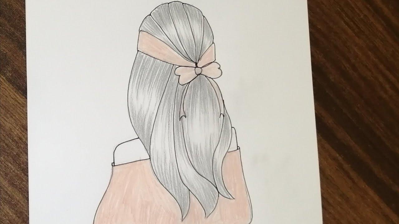 للمبتدئين رسم بنات كرتون بالرصاص سهلة