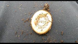 Поиск сокровищ Коп Совдеповский клад. Золотой кулон с секретом(, 2015-04-19T22:10:31.000Z)
