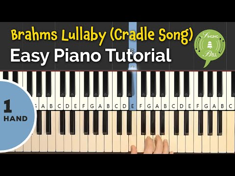Brahms Lullaby | Easy Piano Tutorial