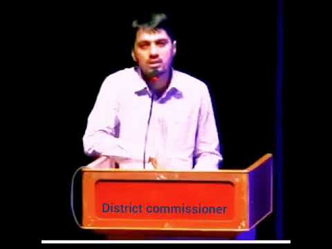 Inspirational speech by tahashildar in local accents.