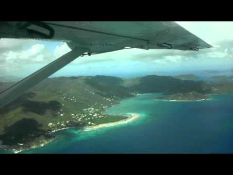Seaplane Flight from Virgin Gorda to St. Thomas (Water Takeoff)