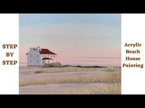 Acrylic Painting STEP by STEP Beach House (CBF Presents)
