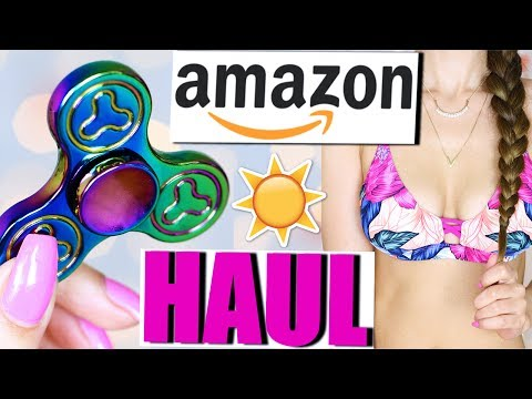 AMAZON SOMMER HAUL ☀️ BIKINIS, FIDGET SPINNER, FOOD PREP | KINDOFROSY