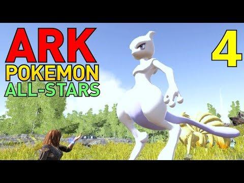 [4] Mewtwo and New Pokemon! (ARK Pokemon All-Stars Multiplayer)