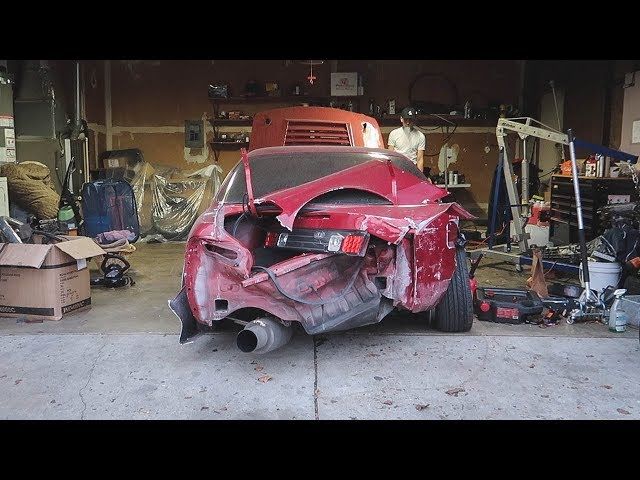 Pulling The SR20 From My Totaled S14
