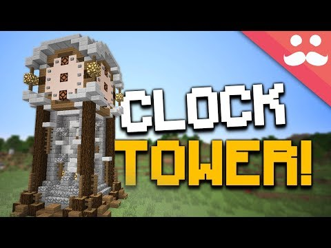 How to make a WORKING CLOCK TOWER in Minecraft!