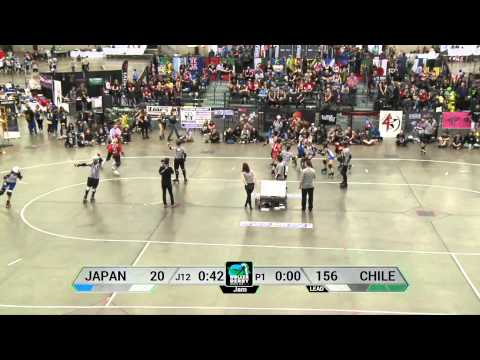 Japan vs Chile Roller Derby World Cup 2014