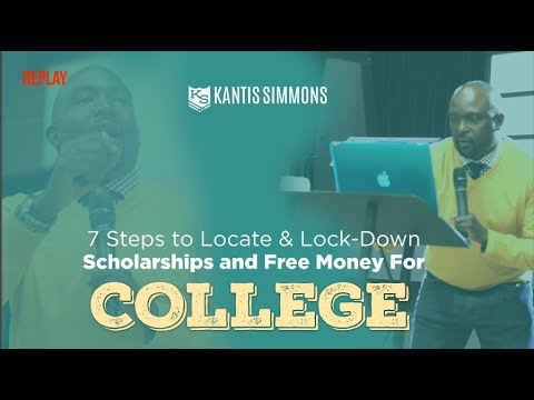 How to Locate & Lockdown Scholarships For College {replay}