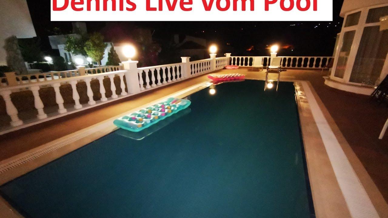 Live vom Pool mit Dennis