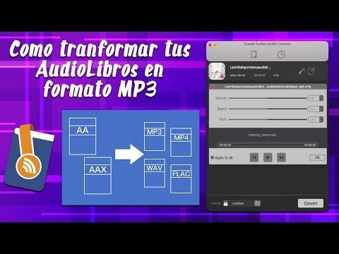 Como transformar tus Audiolibros AAX en formato MP3 fácil y rápido
