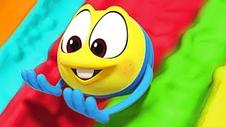 Learn Colors with Giant Slide | SQUISHY Ultimate Fun | Funny Cartoons for Children by Cartoon Candy