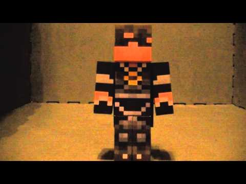 SkyDoesMinecraft papercraft with an evil twist