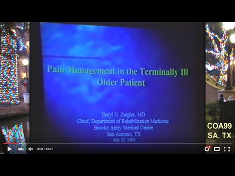 COA99: Aging Conference | Pain Management @ EOL (1999)
