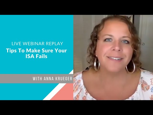 Tips To Make Sure Your ISA Fails