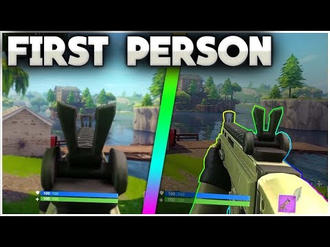 FIRST PERSON FORTNITE IN BATTLE ROYALE! | Achievements For Vbucks! | Community Concepts [1]