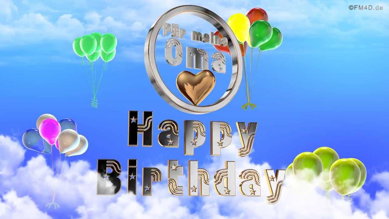 Geburtstagslied ☆♪ für meine Oma Happy Birthday to you ...