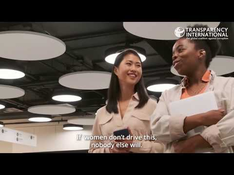 Mujeres apoyando mujeres: Transparencia Internacional