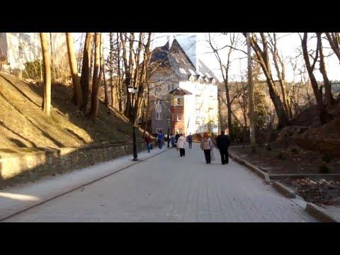 Светлогорск/Ра́ушен-24. Лиственничный парк, идём по ул.Гагарина! Озеро Тихое/нем. Мельничный пруд
