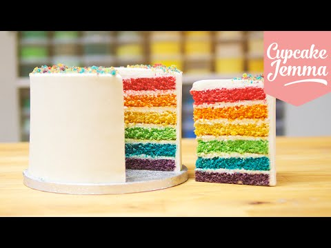 Generate How to make the Best Ever Rainbow Cake | Cupcake Jemma Screenshots