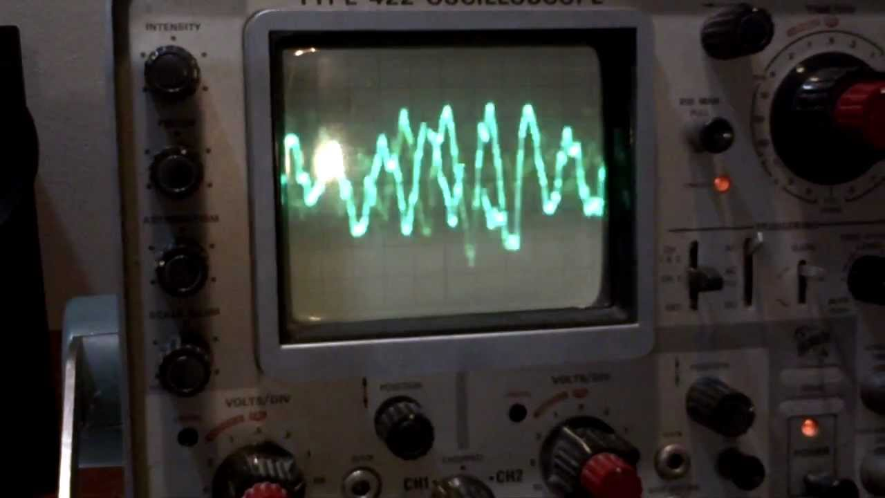 Amp On An Oscilloscope : Tube amp test oscilloscope youtube