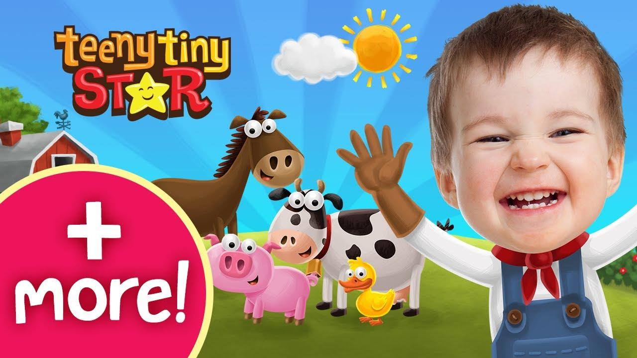 Old MacDonald Had A Farm (New version) + More   동요와 아이 노래   어린이 교육   TeenyTinyStar