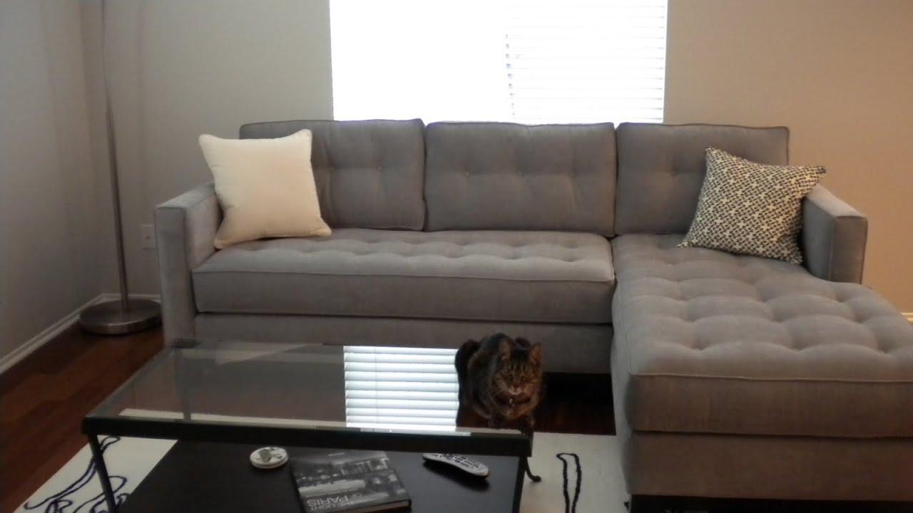 Gray Velvet Sectional Sofa Ideas YouTube