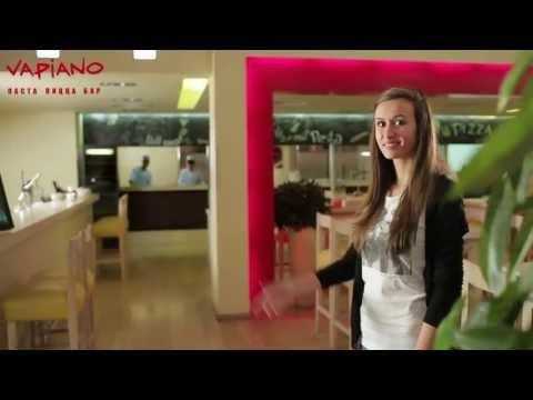 Знаменитая сеть пиццерий Vapiano в Москве. The famous pizzeria Vapiano in Moscow