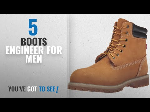 Top 10 Boots Engineer [ Winter 2018 ]: Levis Men's Harrison R Engineer Boot, Wheat, 9 M US
