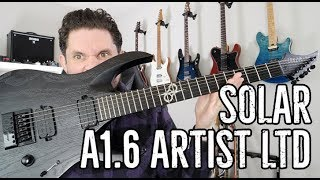 Solar A1.6 Artist Guitar Review: Actually, let's just talk about this Evertune bridge.