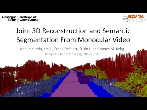Joint Semantic Segmentation and 3D Reconstruction from Monocular Video