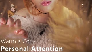ASMR Warm & Cozy Personal Attention 🌙 (Touching Your Face...
