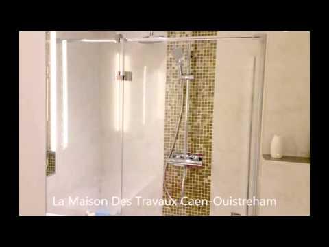 cr ation jolie salle de bain douche lavabo wc suspendu youtube. Black Bedroom Furniture Sets. Home Design Ideas