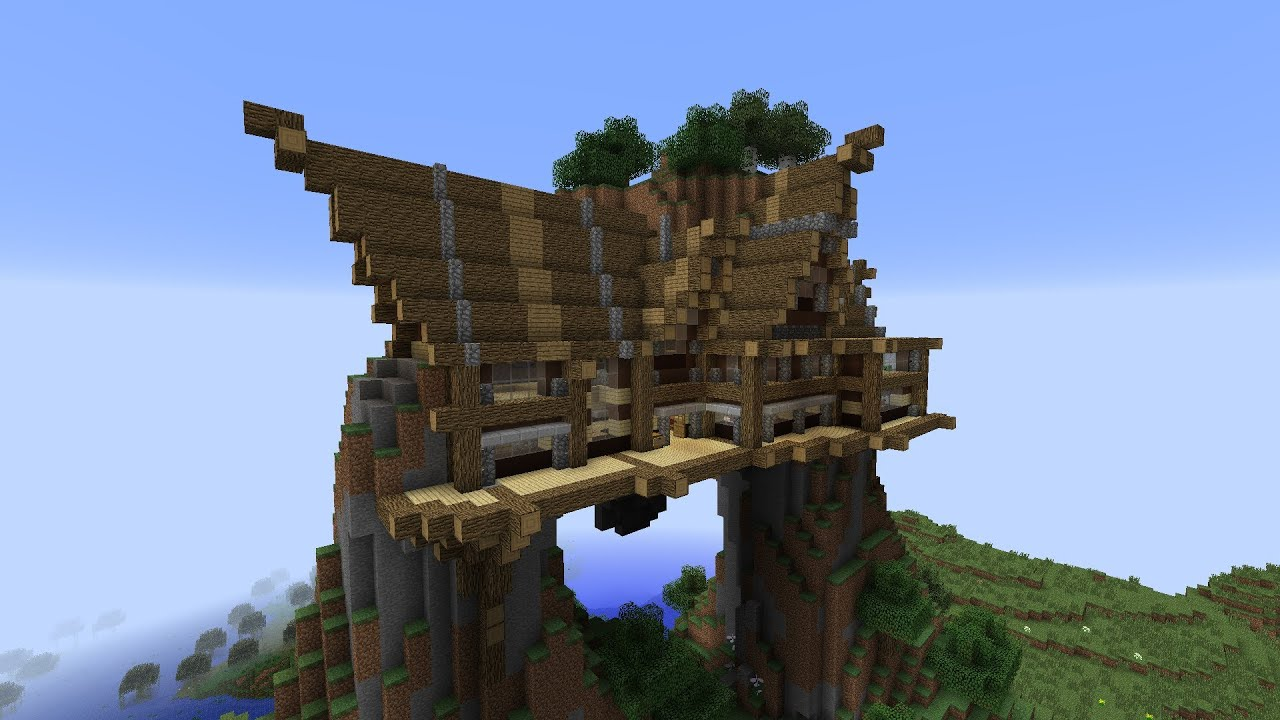 how to build an mountain cave elevator in minecraft
