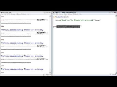 Python Tutorial 39 - return