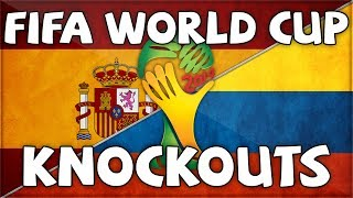 FIFA WORLD CUP KNOCKOUT - SPAIN VS COLUMBIA (Vs FINCH)