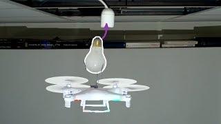 Replacing a lightbulb with a drone by : Marek Baczynski