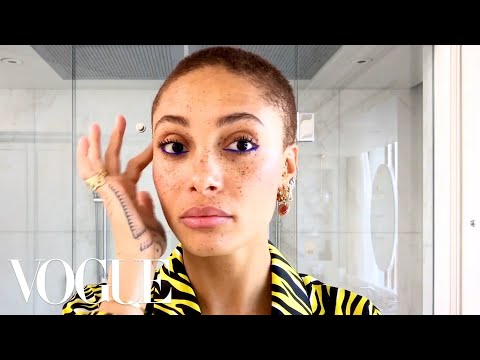 Model Adwoa Aboah's Guide to Glowing Skin and Easy Colorful Eyeliner  Beauty Secrets  Vogue