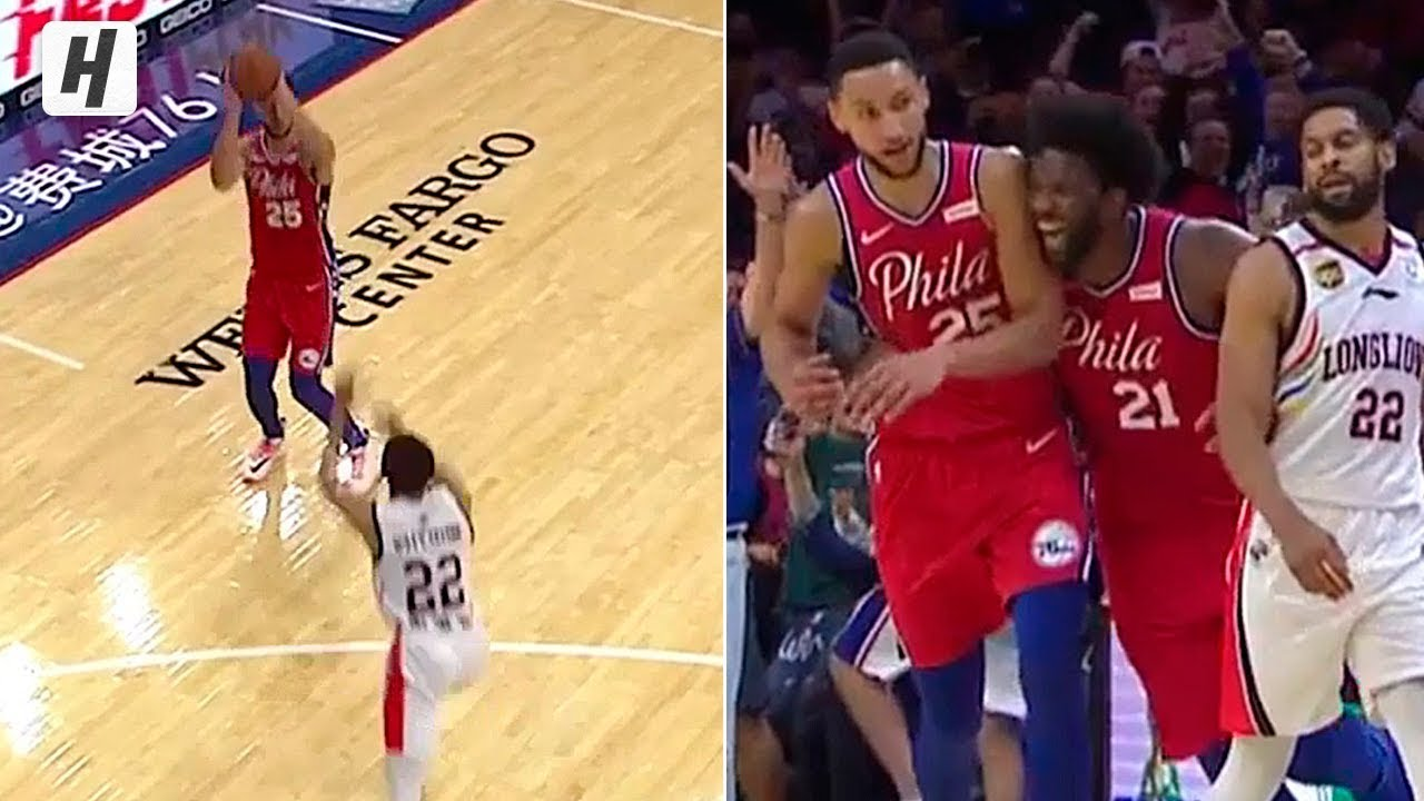 Philadelphia 76ers' Ben Simmons finally hits a 3-pointer in NBA game