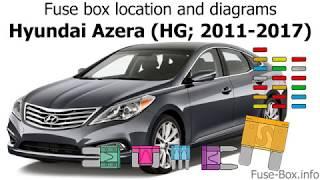 Fuse box location and diagrams: Hyundai Azera (HG; 2011-2017) - YouTube | Hyundai Azera Fuse Box Identification |  | YouTube
