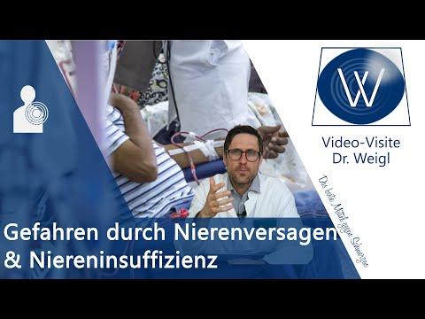 Kaputte Nieren: Akutes Nierenversagen, Chronische Niereninsuffizienz - Ursachen, Symptome & Therapie
