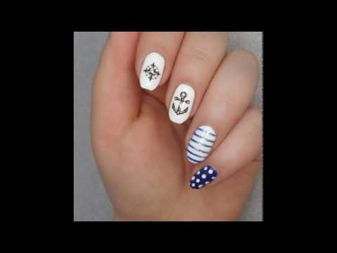 Maritime Nail Art // Water Tattoo's (Anchor and Compass) 🌊🐠