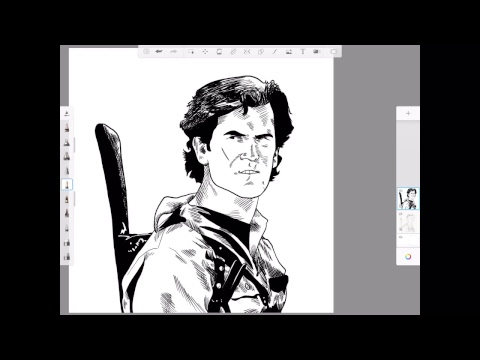 Morning Warm Up with J. Andrew World Drawing Bruce Campbell from Army of Darkness